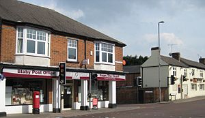 Blaby - Blaby Post Office and The George pub (now named the Fox and Tiger)