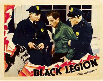 Black Legion (film) - Lobby card for Black Legion