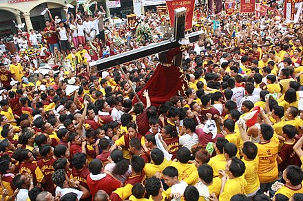 Catholic devotees during the Feast of the Black Nazarene (Traslacíon) Black Nazarene procession.jpg