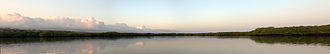 Geography of Ecuador - Panoramic of Black Turtle Cove, Island of Santa Cruz, Galapagos.
