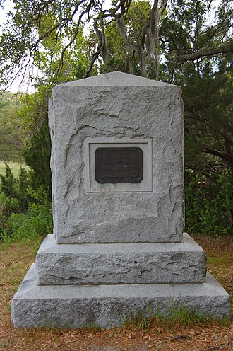 Invasion of Georgia (1742) - A monument commemorating the Battle of Bloody Marsh