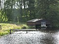 Boathouse and jetty at Folly lake - geograph.org.uk - 538546.jpg