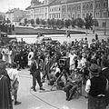 Bocskai tér (Piata Avram Iancu), a Színház szerelmese című film forgatása. Fortepan 30273.jpg