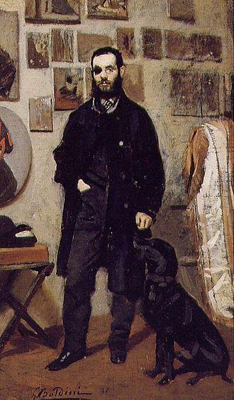 Giuseppe Abbati - Portrait of Abbati by Giovanni Boldini, 1865.