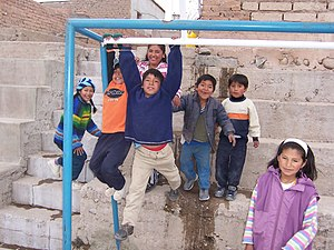 Peer group -  A group of children playing together in Bolivia