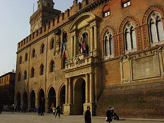 historic palace in Bologna, Italy