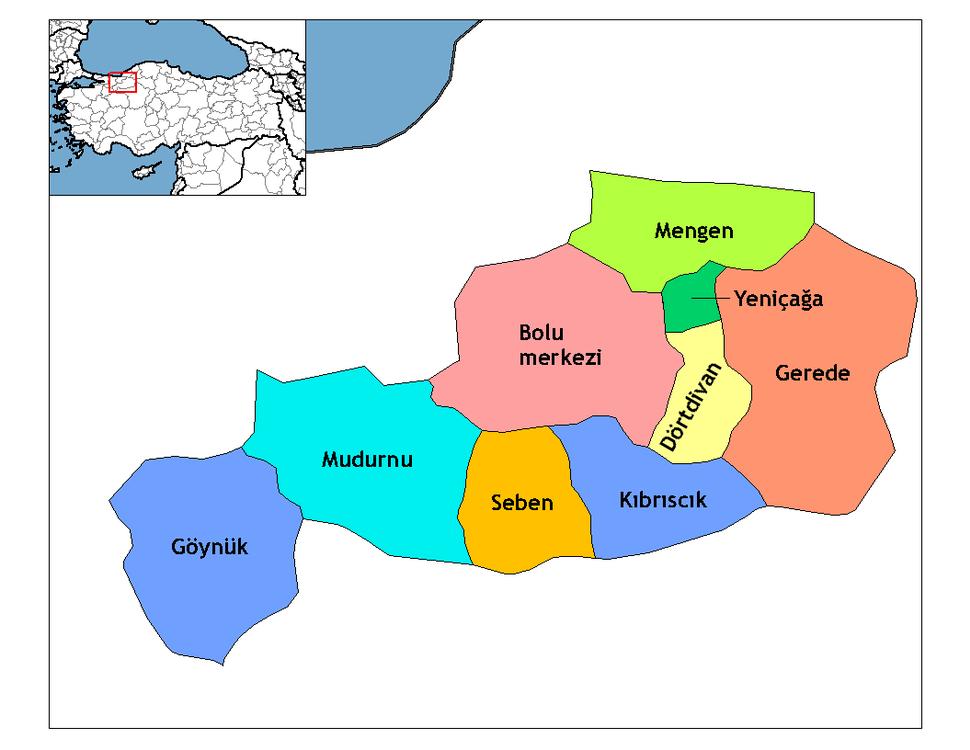 Bolu districts