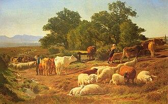 1861 in art - Auguste Bonheur – La Sortie du pâturage