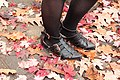 Boohoo Black Flat Cutout Ankle Boots (22625890942).jpg