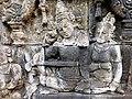 Borobudur - Divyavadana - 068 W, Gifts from King Bimbisara to King Rudrayana (detail 2) (11706349595).jpg