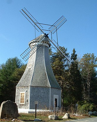 Bourne, Massachusetts - The windmill at the Aptucxet Trading Post