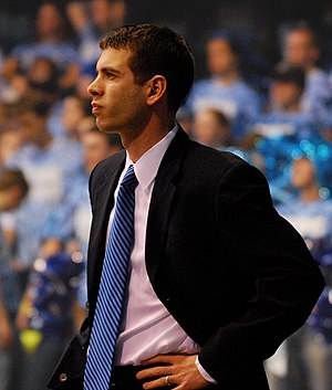 Brad Stevens - Brad Stevens watches from the sidelines during a 2008 game against Drake.