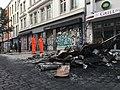 Brandreste Barrikaden b Schulterblatt Hamburg 2017-07-08.jpg