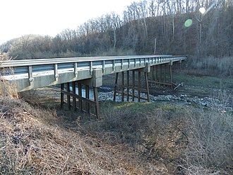 Brazeau Bottom - Image: Brazeau Bottoms, Perry County, Missouri, Bridge over Brazeau Creek