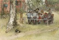 Breakfast under the Big Birch. From A Home (26 watercolours) (Carl Larsson) - Nationalmuseum - 24220.tif
