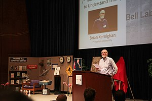 Brian Kernighan - Brian Kernighan speaks at a tribute to Dennis Ritchie in 2012 at Bell Labs.
