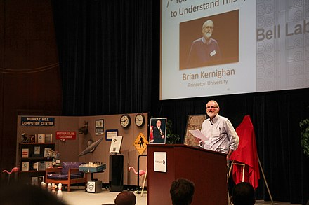 Brian Kernighan speaks at a tribute to Dennis Ritchie in 2012 at Bell Labs.