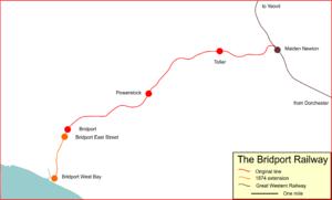Bridport Railway - Map of the Bridport Railway