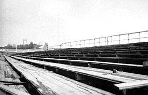 Briskeby Arena - The venue's terraces in 1945