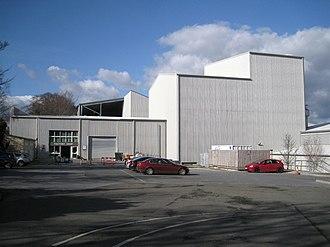 Heathfield, Devon - Image: British Ceramic Tiles, factory shop and car park (geograph 3055927)