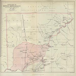 British Bechuanaland - Image: British bechuanaland 1887
