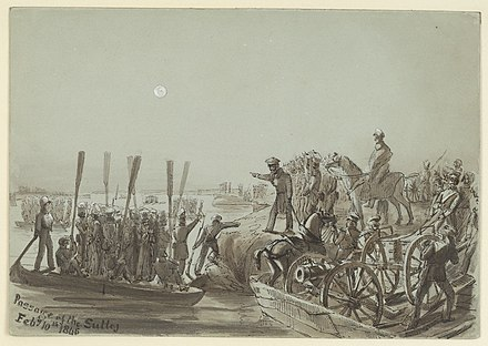 British troops crossing the Sutlej (Punjab) in boats. 10 February 1846 British troops crossing the Sutlej (Punjab) in boats. 10 February 1846.jpg
