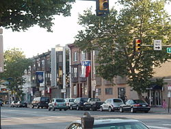 The intersection of Broad and Ritner Streets, taken just before dusk in June 2008