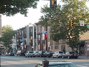 Central South Philadelphia, Philadelphia - The intersection of Broad and Ritner Streets, taken just before dusk in June 2008