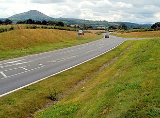 A479 road - Image: Bronllys bypass eastern side