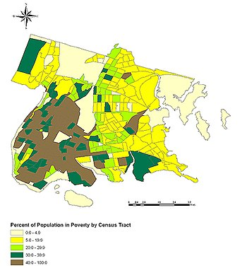 Poverty concentrations within the Bronx, by Ce...