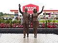Bronze sculpture of Barack and Michelle Obama at Barack Obama Plaza - 1.jpg
