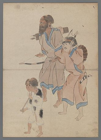 Ainu people - Ainu hunters, 19th century
