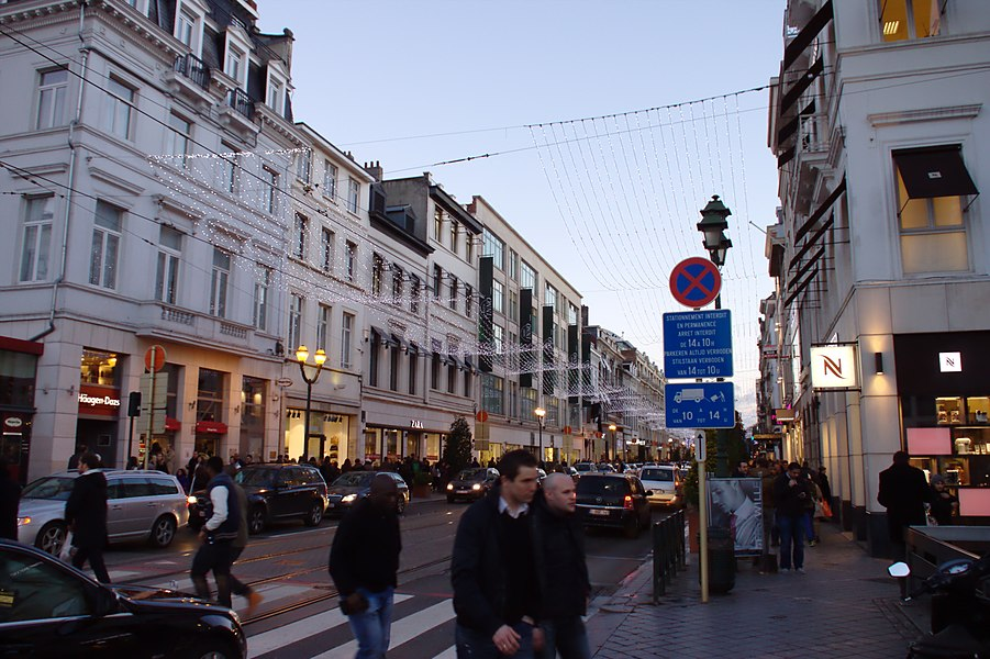 Louise Street in Brussels, Belgium