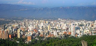 Bucaramanga City in Andean Region, Colombia