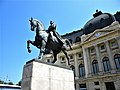 Bucuresti, Romania. BIBLIOTECA CENTRALA UNIVERSITARA si statuia lui Carol I. (B-II-m-B-18598).jpg