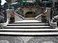 Bucuresti, Romania. Piata Lahovari. Casa Oamenilor de Stiinta. (Scara din gradina) (detaliu).jpg