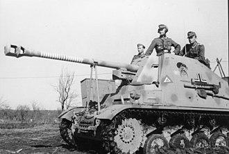 """Marder II - Image: Bundesarchiv Bild 101I 197 1235 15, Russland Mitte, Panzerjäger """"Marder II"""""""