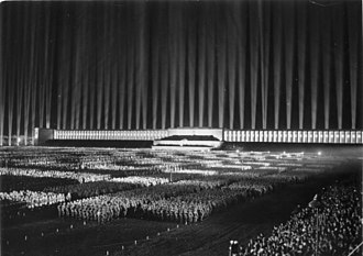 Albert Speer - The Cathedral of Light above the Zeppelintribune