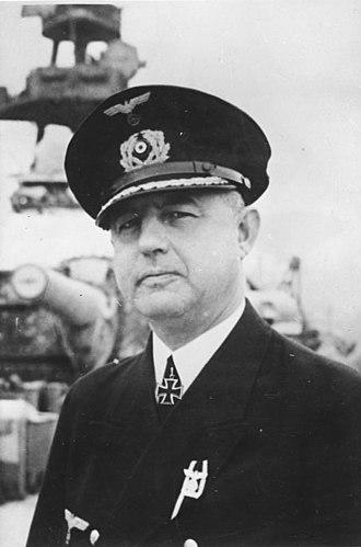 Günther Lütjens - Captain Hoffmann. A former pupil and companion to Lütjens on Berlin.