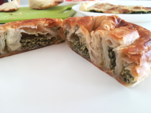 Typical Börek with a spinach filling