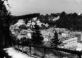 Burghausen - Blick vom Burgsteig auf die Stadt, Juli 1956.png