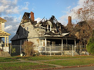 Structure fire - A burned house