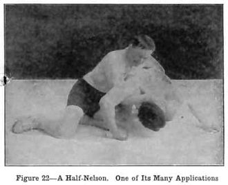 Nelson hold - Half nelson.