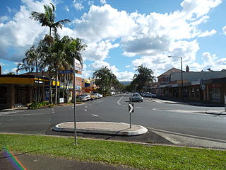 Mullumbimby Town in New South Wales, Australia