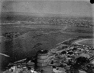 East Perth Gas Works - East Perth Gas Works and Burswood, c.1935