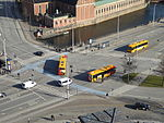 Buses seen from Christiansborg Palace 10.JPG