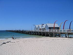 Busselton - At 1841 metres, the Busselton Jetty is said to be the longest wooden structure in the world