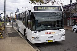 Busways (mo 9707) Bustech 'VST' bodied MAN 18-310 HOCL-R-NL at Castle Hill Interchange (1).jpg