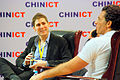 CHINICT's founder Franck Nazikian & Facebook's co-founder Eduardo Saverin at the 8th annual edition of the CHINICT conference on May 25th 2012 in Beijing, China..JPG