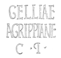 CIL VI 1424 - Gelliae Agrippiane c(clarissimae) p(uellae).png